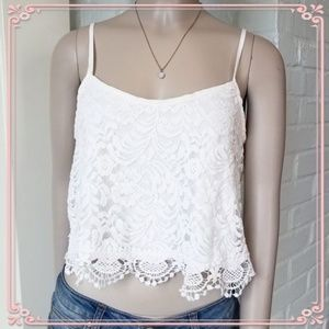 🌸Lace Crop Top